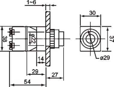 micro relay socket solid